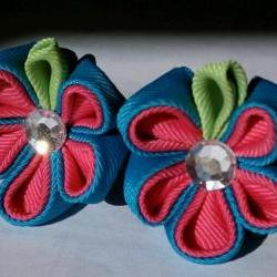Kanzashi Flower Hair Bow